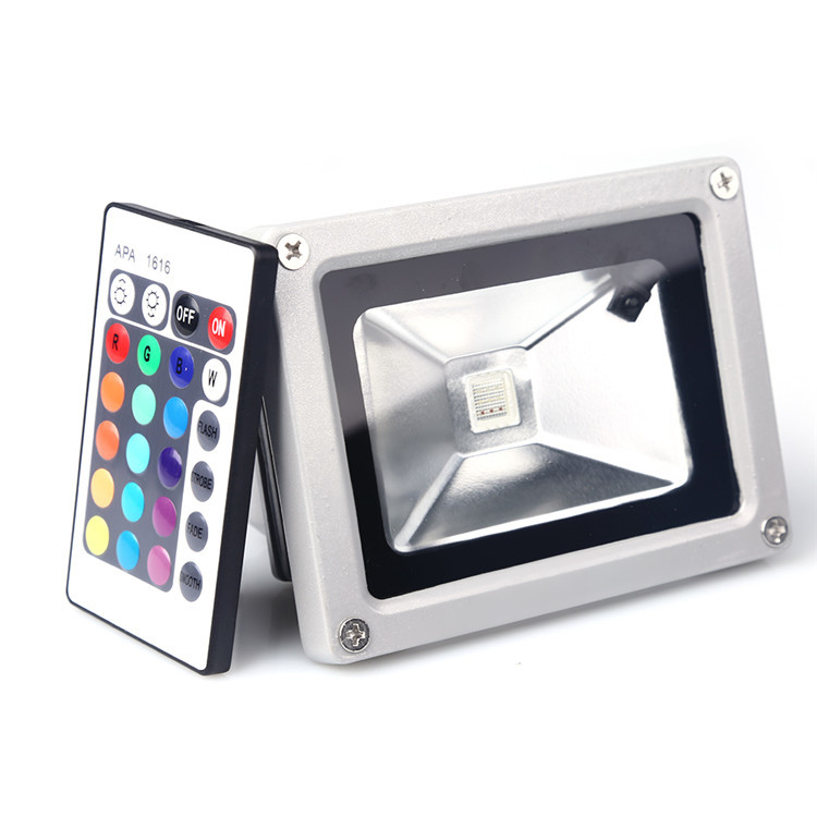New Fashion 10W LED RGB Flood Light Spotlight Lamp Bulb Outdoor Garden Home Waterproof RGB Flood free shipping