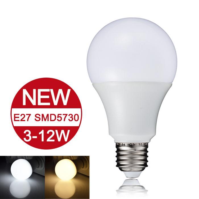 Гаджет  NEW Arrival LED Lamp E27 110-220V LED Bulb 3W 5W 7W 9W 12W SMD5730 Real Watt Bombillas LED Light Warm White/Cold White None Свет и освещение