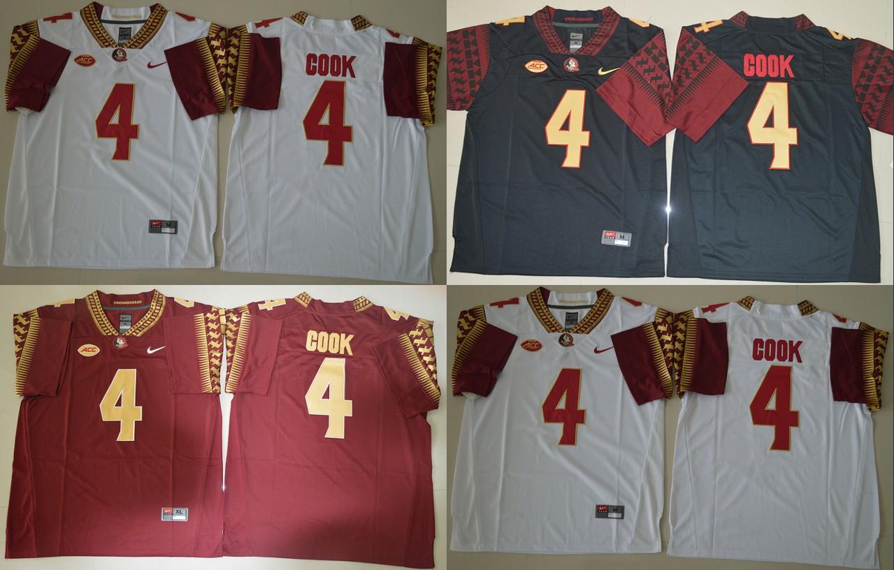 100% Stitiched,high quality,Florida State Seminoles,FSU,#4 Dalvin Cook(China (Mainland))