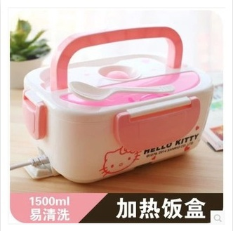 lovely electric lunch box insulated bento lunch box box of plug in electric heating food girl. Black Bedroom Furniture Sets. Home Design Ideas