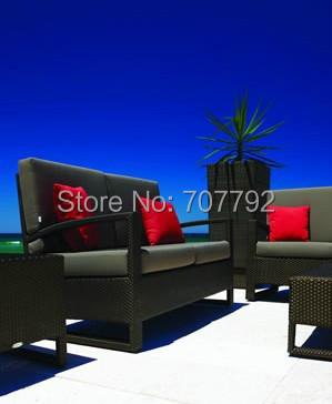 2016 Top Sale Outdoor Rattan Furniture Loveseat Sofa Set(China (Mainland))