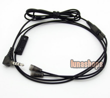1.2m With Remote volume control and Mic Cable Upgrade For Sennheiser IE8 IE80 earphone headset