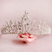 Free Shipping Silver Crystals Tiara Crown Stunning Alloy Jewelry Wedding Hair font b Accessories b font