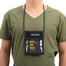 OneTigris Tactical ID/Badge Holder 500D CORDURA Nylon Traveler Passport Holder with Neck Lanyard For Military Enthusiasts(China (Mainland))