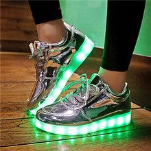 7ipupas 2018 אדום אריג סל אור עד נעלי ספורט ילד ילדה נעלי led schoenen מזדמן ילד homme סניקרס הזוהר יוניסקס chaussures(China)