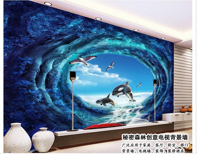 Acquista all'ingrosso online living room wallpaper ideas da ...