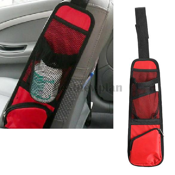 Red Car Auto Side Mount Seat Bag Storage Collector Multi-Pocket Hold Bag(China (Mainland))