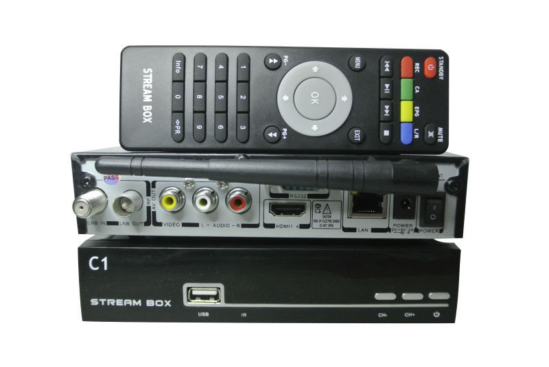 1PCS Free home delivery Singapore HD Cable tv receiver Streambox D1C Streambox C1 QBOX 5000HDC(China (Mainland))
