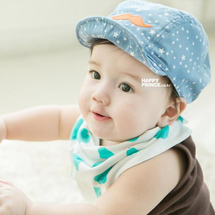 Summer Stars Korean Style Hats Beard Soft Children Peaked Cap Popular Baseball Hat Baby Summer Sun Hats Blue Hat Cool M009(China (Mainland))
