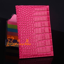 ZS 2015 New Arrived Candy Color Fashion Passport Cover Card Holder Unisex Travel Passport Holder crocodile