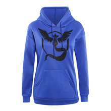 Pokemon Go Long Sleeve Hoodie Sweatshirt Women Team Valor Instinct Mystic Symbol Cosplay Costume Jacket Autumn Winter Hoodies