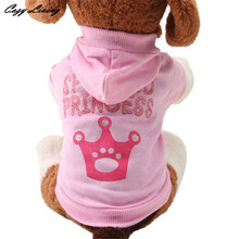 1 PC Cheap Pet Clothes For Dogs XS,S,M,L Pink Pet Dog Clothes Crown Pattern Puppy Clothing Coat Hooded Cotton T Shirt DEC 19TH(China (Mainland))