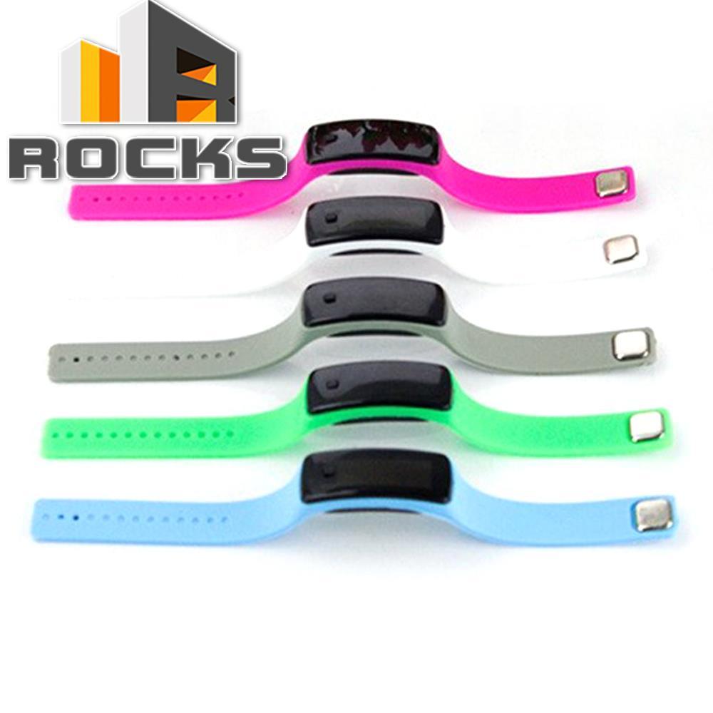 Fashion Unisex Waterproof Rubber LED Watch Date Sports Bracelet Digital Wrist Watch Black White Blue Green Purple Rose
