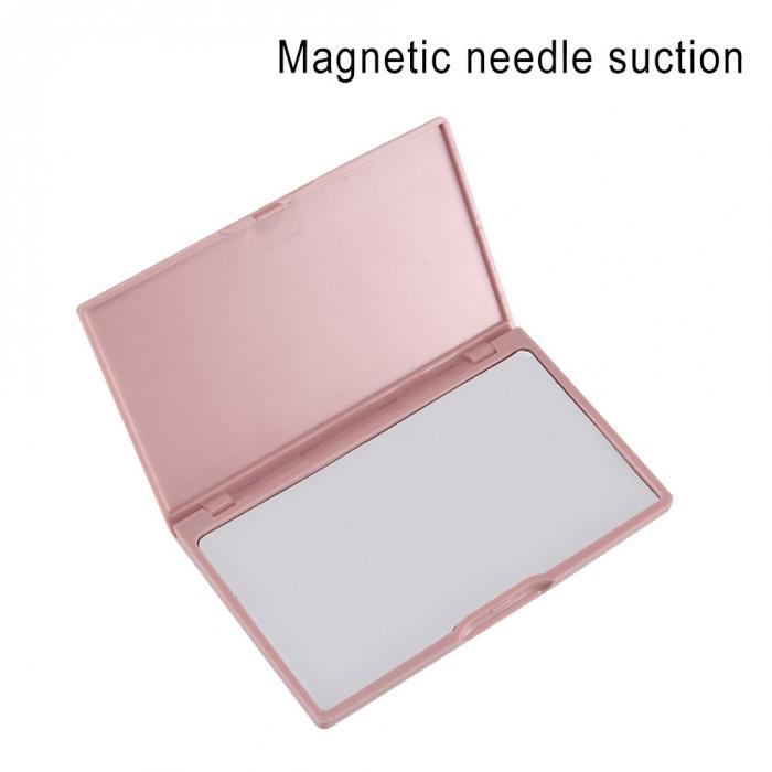 Переносная игла чехол для хранения Пластик швейные булавки Органайзер Магнитный