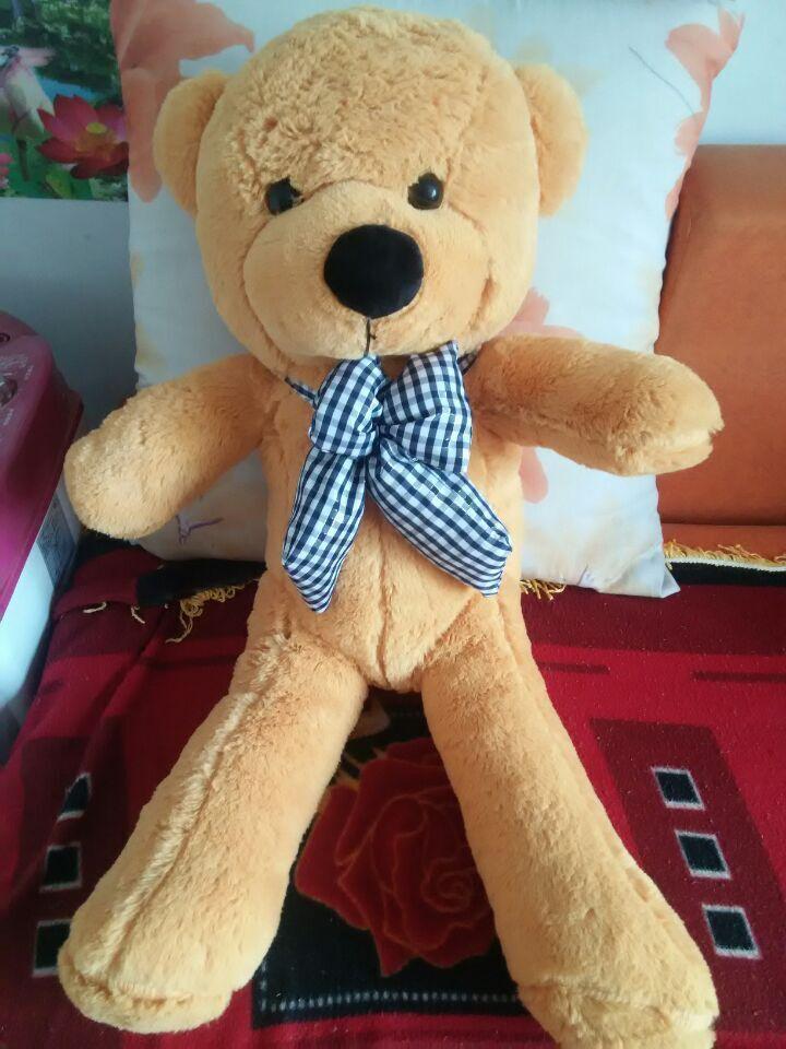 100cm life size teddy bear plush toy, giant stuffed bear throw pillow big teddy bear giant plush bear(China (Mainland))