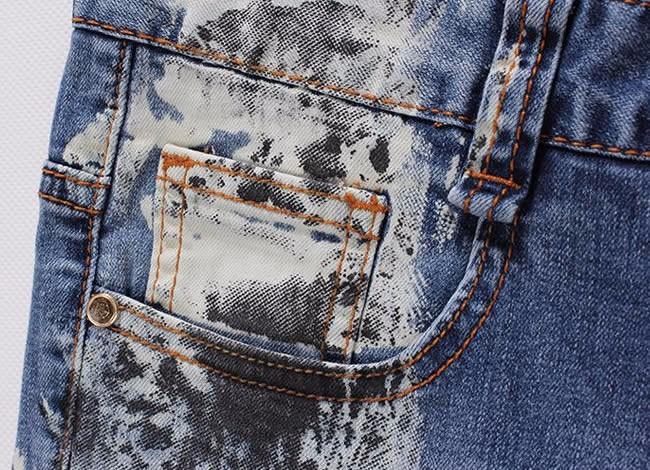 Fashion summer new fashion vintage print Straight long trusers