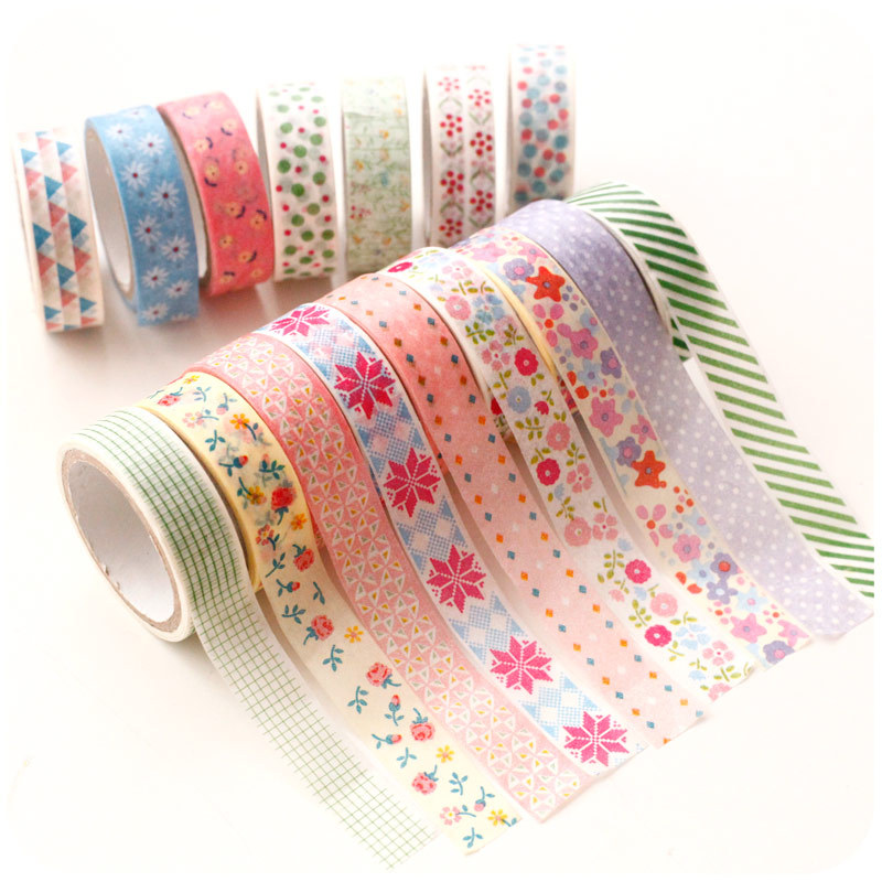 2015 floral decorative tape diary scrapbook decor adhesive for Adhesive decoration