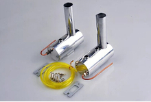 100CC Smog Muffler Set for DLE111/DL100/DA100 Engines (2 mufflers) Copper coil(China (Mainland))