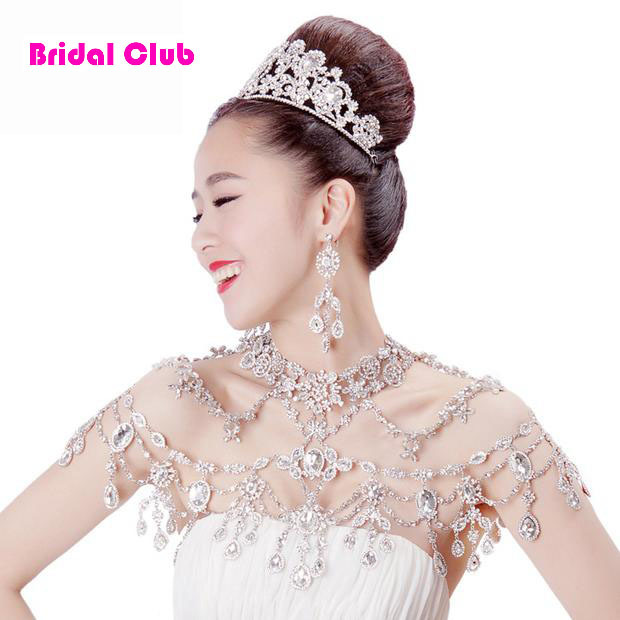 New Luxurious Wedding bridal chain Crystal shoulder chain wedding jewelry sets wedding necklace sexy bridal jewelry party chain