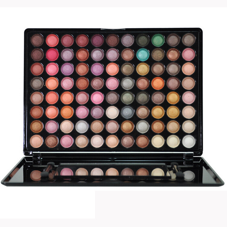 New Makeup 88 Colors Set Metallic Pearly Soluble Water Multi-colors Shining Eye Shadow Makeup Palette Free Shipping(China (Mainland))