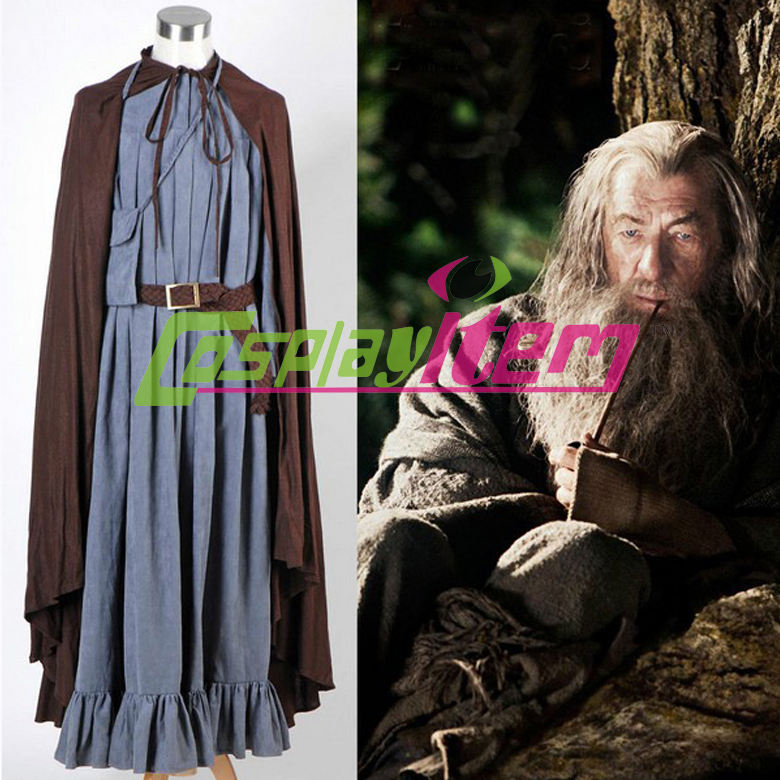Custom made movie The Lord of the Rings cosplay costume Gandalf costume men Customized Halloween Cosplay Costume