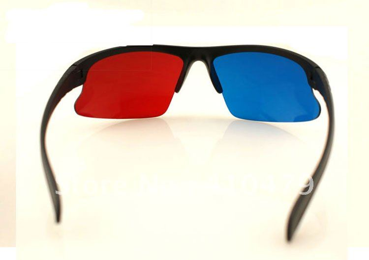 Best Sale Red Blue Anaglyph 3D Dimensional 3 D Glasses DVD Movie with Free Shipping DHL or EMS(China (Mainland))