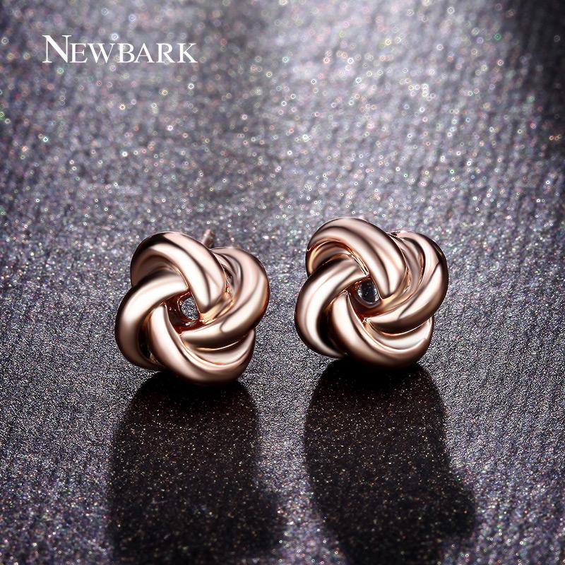 NEWBARK Cute Twist Love-knot Stud Earrings 18k Rose And White Gold Plated Earings Fashion Jewelry Women Korean Design In 2016<br><br>Aliexpress