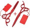 2016 New 5 5 inch 6 0 inch 440C hair scissors thinning cutting set barber shears