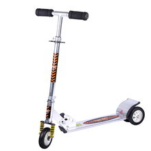 Buy Aluminum Alloy 2 Wheel Scooters Adults Kids Folding Portable Mini Bicycle Flash Wheel White Height Adjustable for $90.84 in AliExpress store