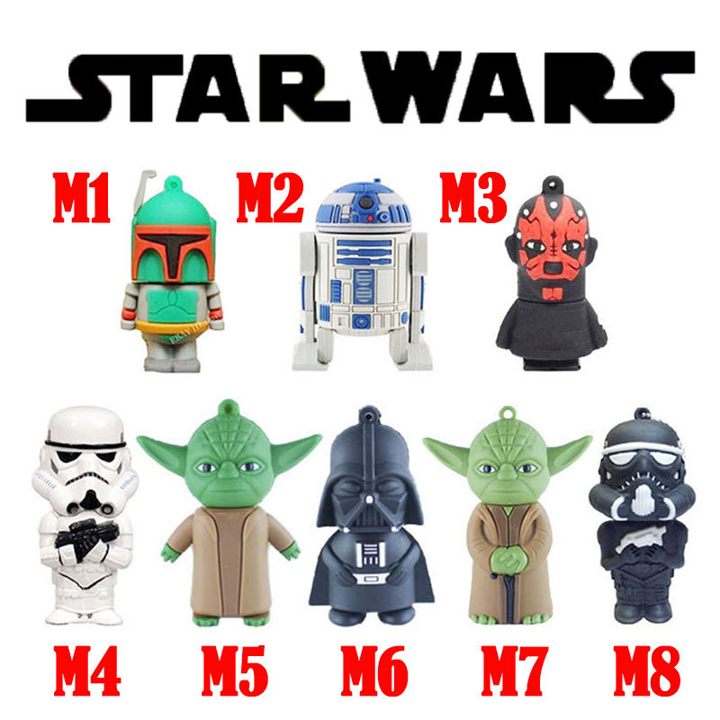 Star wars usb flash drive 2gb usb stick 4gb pen drive free shipping flash cards 8gb