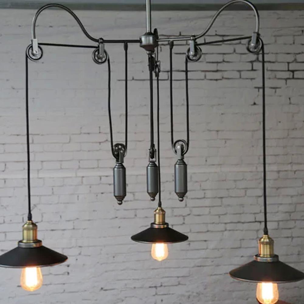 R tro style industriel de pays d 39 am rique pendentif for Lampe sur pied style industriel