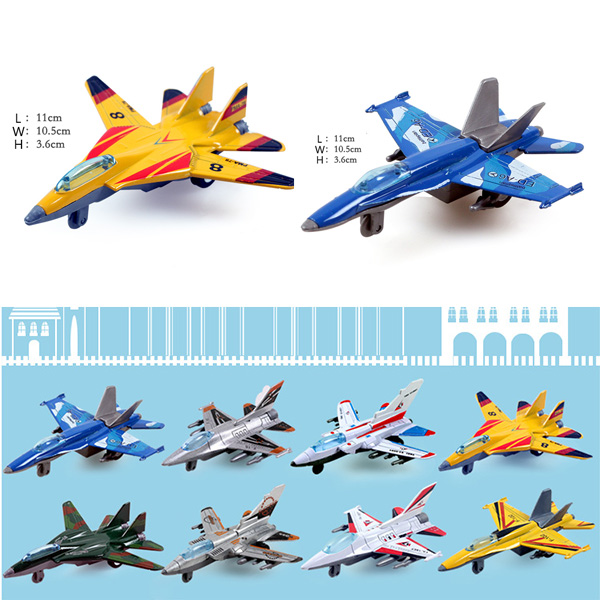 Children alloy toy boomerang force fighter plane funny Shipboard Aircraft Bravo Metal new different free shipping(China (Mainland))