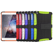 Tire Pattern Silicone Heavy Duty Rugged Armor Hybrid Stand TPU+PC Phone Case For Apple Pad Mini 123 Coque Fundas Capa(China (Mainland))