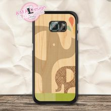 Lovely Elephant Mon And Son Hard Case For Galaxy S7 S6 Edge Plus S5 S4 S3 mini active Ace 4 3 2 Core A3 A5 A7 Win(China (Mainland))