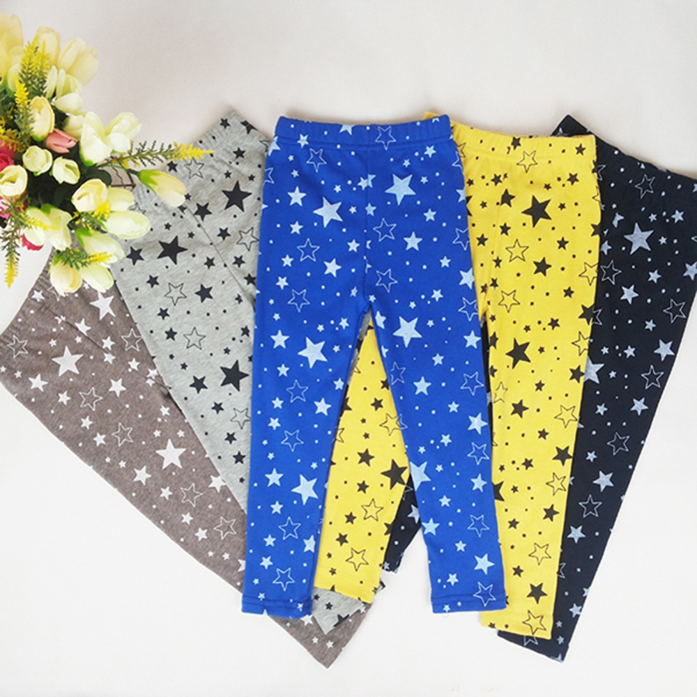 Kid Girls Baby Star Printed Warm Pants Stretchy Skinny Leggings Trousers Free Shipping