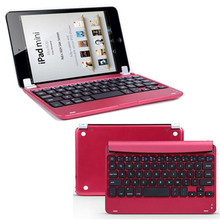 Mecal Aluminum Wireless Bluetooth Keyboard Case Smart Cover For Apple for iPad Mini