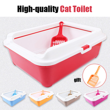 High-end Cat Toilet Closed Prevent sand throwing WC Cat Toilet Cats Litter Box Safe and nontoxic  5 colors optional 43*31*15cm(China (Mainland))