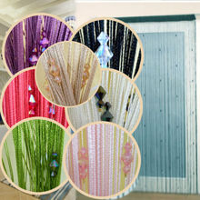 Romantic Decorative String Curtain With 3 Beads Door Window Panel Room Divider(China (Mainland))