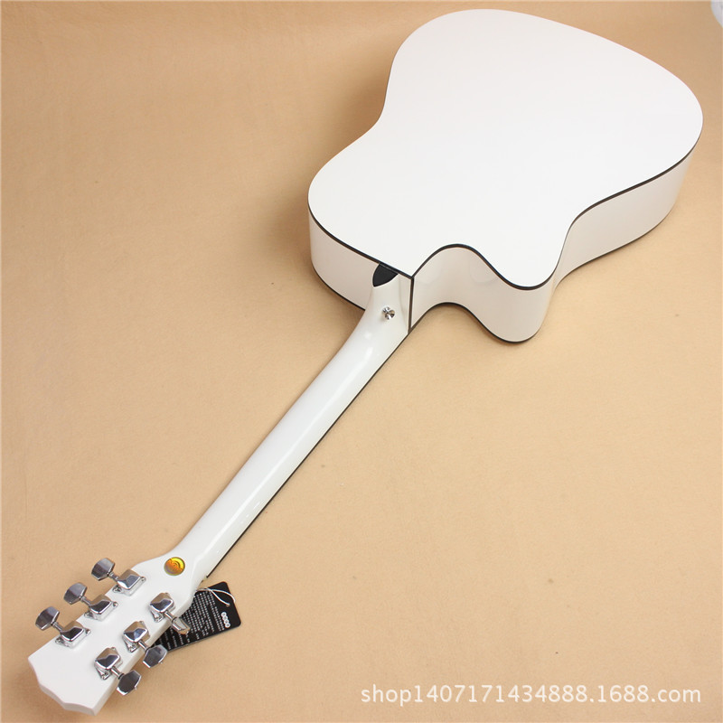 41 inch electric box guitar ballad Liles EQ basswood guitar guitar factory direct white(China (Mainland))