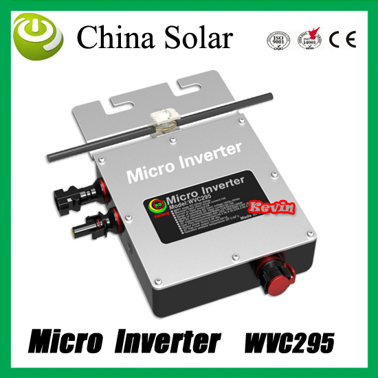 Solar power micro inverter 295WVC,22-50 V DC,Grid Tie solar inverter Can with Power Line Carrier-current Communication(China (Mainland))