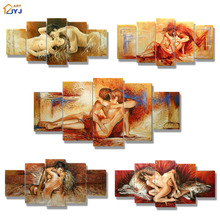 Our Love Story Art Painting Thick Textured Hand painted Modern Canvas Oil Painting Wall Art Home Decor Gift  No Frame JYJHS006(China (Mainland))