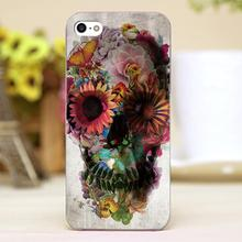Rose skulls Design Customized transparent case cover cell mobile phone cases for Apple iphone 6 6plus hard shell