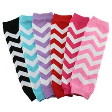 1 pair New 2014  Cotton Christmas striped Chevron Leg Warmers baby boy's girl's leg warmers baby  accessories(China (Mainland))