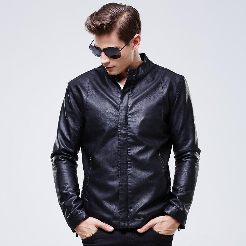 2015 Hot Sale Autumn Brand Leather Jacket Men Jaqueta Couro Masculino Bomber Leather Jacket Sheepskin Coat Motorcycle Jacket