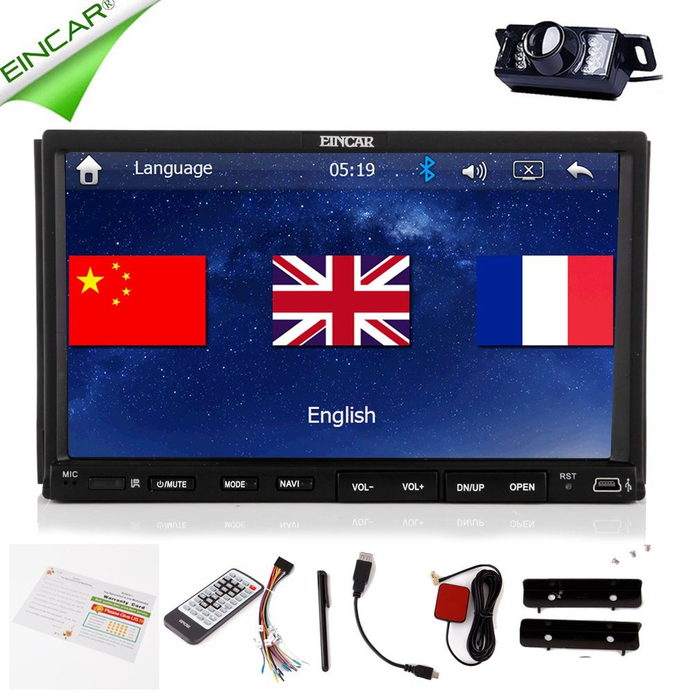 Double 7 inch 2 Din Touchscreen In-Dash Car DVD Player GPS Navigation HD Screen Radio Stereo Bluetooth+ Backup Camera(China (Mainland))
