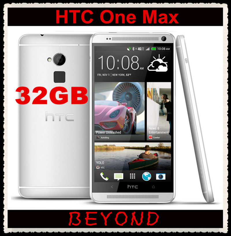 """HTC One Max 32GB Original Unlocked GSM 4G LTE Android Quad Core RAM 2GB Mobile Phone 5.9"""" WIFI GPS 4MP dropshipping(China (Mainland))"""