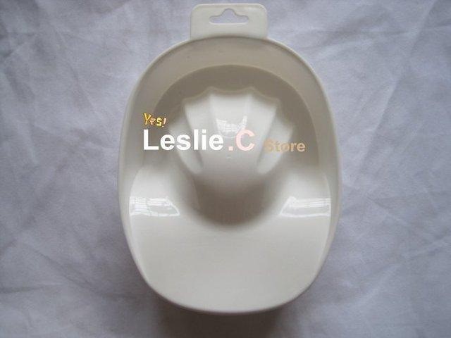 Free shipping--wholesale Nail Art Tool - Nail Bubble Bath Spa Bowl Nail Soak Off Tray Acrylic Gel