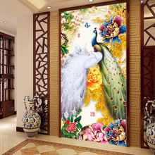Buy 5d DIY diamond painting peacock flowers cross stitch diamond embroidery mosaic handmade Full resin round rhinestone Decor F267 for $24.79 in AliExpress store
