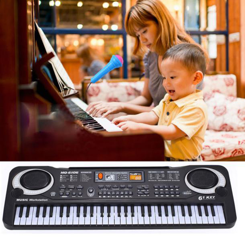 New 61 Keys Digital Music Electronic Keyboard Key Board Gift Electric Piano Gift Musical toys for children(China (Mainland))