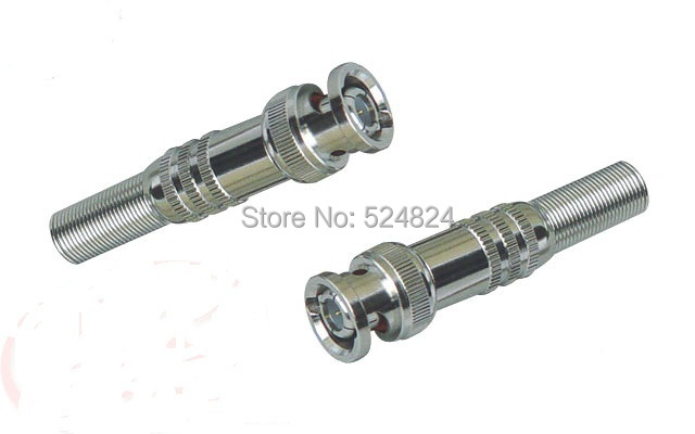 Free Shipping,1000Pcs Wholesale,CCTV BNC Connector Plug With the Screw For CCTV Camera System